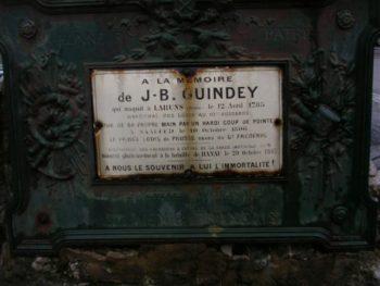 Plaque du monument