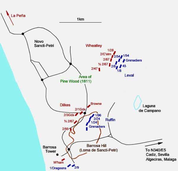 Carte de la bataille