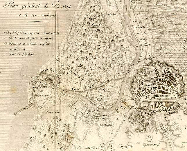 Plan du siège de Danzig