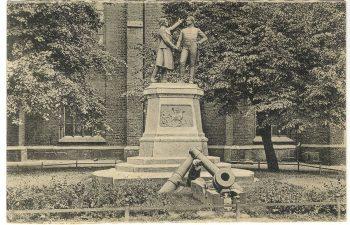 Le monument du siège de Colberg, avec Gneisenau et Nettelbeck