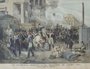 Défense de la barrière de Clichy par le maréchal Moncey